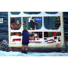 Seasonal Holiday Window Shopping Doormat
