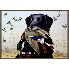 <strong>Custom Printed Rugs</strong> Wildlife King Buck Novelty Rug