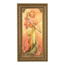 Wandbild Frühling Die Jahreszeiten 1900 - 48 x 25 cm