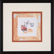Steam Shovel Framed Print
