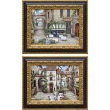 <strong>Phoenix Galleries</strong> Trattoria - Pair Framed Print