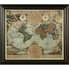 <strong>Phoenix Galleries</strong> World Map 1716 Framed Print