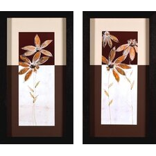 <strong>Phoenix Galleries</strong> Flowers in Brown Canvas Transfers