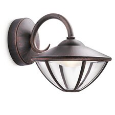 Eden 1 Light Outdoor Wall Semi-Flush Light