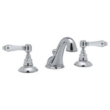 Country Double Handle Widespread Bathroom Faucet with Pop-Up Drain and Lever Handle