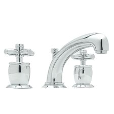 Zephyr Double Handle Widespread Bathroom Faucet with Pop-Up Waste and Cross Handle