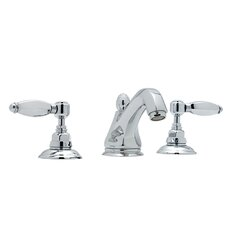 Country Double Handle Widespread Bathroom Faucet with Lever Handle and Pop-Up Drain