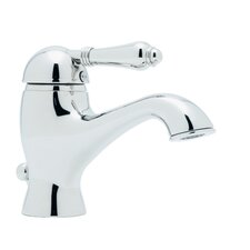 Country Single Handle Bathroom Faucet with Lever Handle and Pop-Up Drain