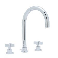 Modern Double Handle Widespread Bathroom Faucet with Cross Handle