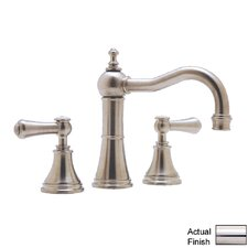 Georgian Era Double Handle Widespread Bathroom Faucet with Capped Lever Handle and Pop-Up Drain