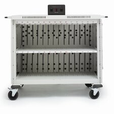"30-Compartment Laptop Cart with 5"" Casters"