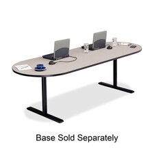 "Racetrack Conference Table,42""x120""x29"",Gray Nebula"