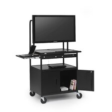 "<strong>Bretford Manufacturing Inc</strong> Cab Cart with Laptop Shelf for 26"" to 42"" Flat Panels"