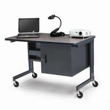 Height Adjustable Mobile Multimedia Rackmount Workstation