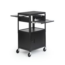 "<strong>Bretford Manufacturing Inc</strong> 26 - 42"" High UL Listed Adjustable Cabinet Cart"