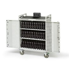 "42-Compartment Netbook Cart with 5"" Casters"