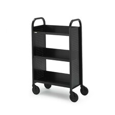 "<strong>Bretford Manufacturing Inc</strong> Voyager Series Mobile Book & Utility Truck with Three Slanted Shelves (27"" wide)"