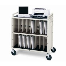 16-Compartment LAPT Series Tech-Guard Storage Computer Cart