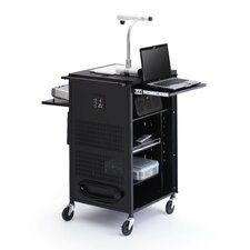 Multimedia Compact Presentation Cart with Antimicrobial Surface