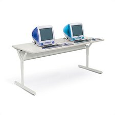 Tech-Guard Work Center Computer Table For Securing Desktop PCs and iMacs