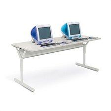Tech-Guard Work Center Computer Table For Securing Desktop PCs and iMacs