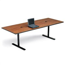 "36"" Deep Rectangle Conference Table - Two Grommet Holes"
