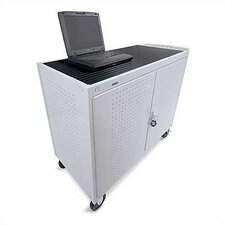"30-Compartment UL Listed Computer Cart with 5"" Casters"