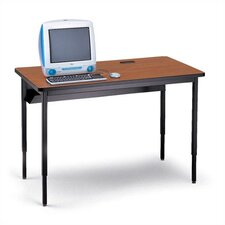 "Quattro 42"" Wide Computer Table - One Grommet Hole"