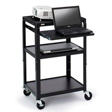 "Multimedia Adjustable Cart with 4"" Caster"