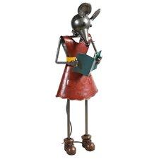 Dekofigur Maus mit Buch