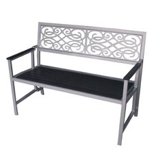 Folding Aluminum and Wood Garden Bench