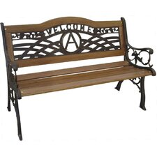 Monogram Wood and Cast Iron Park Bench