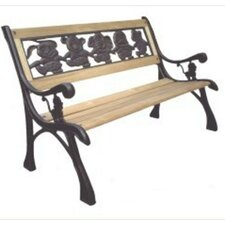 Friendship Kids Wood and Cast Iron Park Bench
