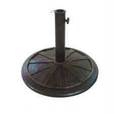 "13"" Free Standing Round Cast Stone Umbrella Base"
