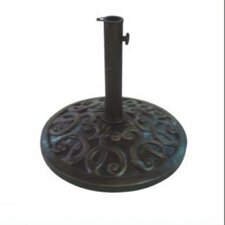 "16"" Free Standing Round Cast Stone Umbrella Base"