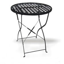 <strong>DC America</strong> Round Wrought Iron Folding Dining Table with Mesh Top