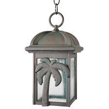 "Americana Palm Tree Series 1 Light 12"" Hanging Lantern"