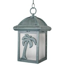"Americana Palm Tree Series 1 Light 15"" Hanging Lantern"