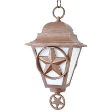 "Americana Lone Star Series 1 Light 17"" Hanging Lantern"