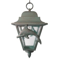 "Americana Dolphin Series 1 Light 18"" Hanging Lantern"