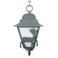 "Americana Deer Series 1 Light 16"" Hanging Lantern"