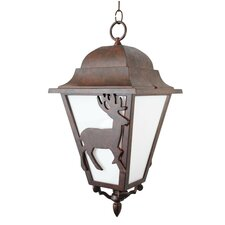 "Americana Deer Series 3 Light 24.5"" Hanging Lantern"
