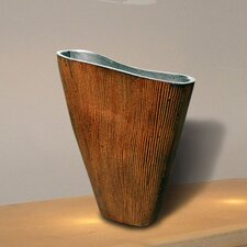 Natural Home Decor Leaf Rust Vase in Brown