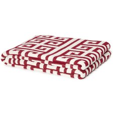 Eco Designer Infinite Greek Key Throw Blanket