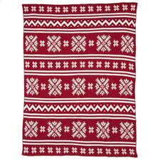 Eco Designer Fair Isle Throw Blanket