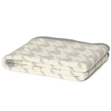 Eco Designer Houndstooth Throw Blanket