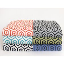Eco Geo Cotton Throw Blanket