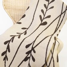 Eco Vine Cotton Throw Blanket