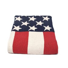 <strong>In2Green</strong> USA Flag Cotton Throw