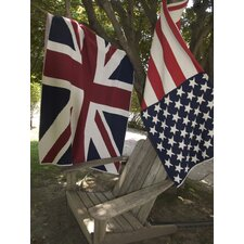 Union Jack Flag Cotton Throw
